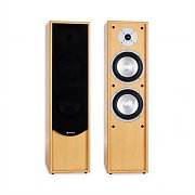 Auna Line 300-BH 2-Way Passive Hi-Fi Tower Speaker Pair 320W Beech