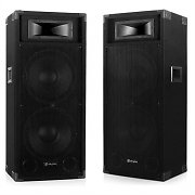 "Skytec CSA 215 Pair of 2 x 38cm (15"") Active PA Speakers 1600W MIC AUX"