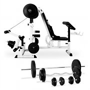 Klarfit Power Station with Barbell Dumbbell Set 18-pc.