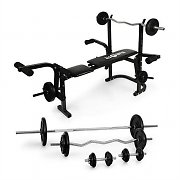 Klarfit Fitness Power Station Weight Bench w/ Dumbbell Set