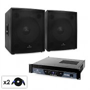 "Malone DJ PA Set 2.0 SUB ""Party"" with Two 18"" Subwoofers & Amplifier 2000W"