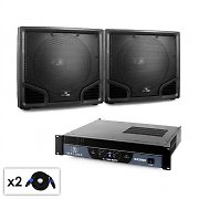 "3000W PA Set Malone 2.0 18"" Subwoofer & Amplifier System"