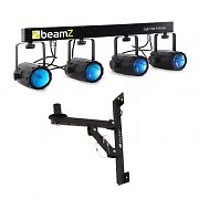 Beamz 4 LED Light Effect Set 5 pcs. with Wall Bracket