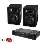 "Malone SPL PA System 6.5"" Speaker Set and DJ Amplifier 300W"