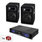 "PA Set ""Malone SPL MP3"" - Pair of 6.5"" Subwoofer Speakers & Amplifier 300W"
