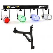 Beamz Light Set 4-Some II LED Light Effect Set 5-pc with Wall Bracket