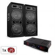 "Malone SPL Bluetooth MP3 PA Set 2 x 12"" Speakers & Amp 1500W"