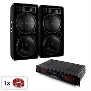 "2000W PA 'Malone SPL Bluetooth MP3' Pair of 2 x 15"" Speaker & Amplifier Set"