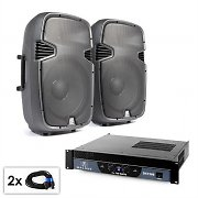 "PA Set ""SPJ Boom"" Pair of 15"" (38 cm) Speakers and Amplifier 1500 W"