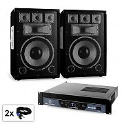 "PA Set Sapphire Series 'Warm Up Party' 12plusII Pair of 12"" Speakers & Amplifier 1500W"