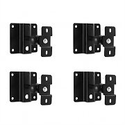 4 x Malone ST-3 WSS Speaker Wall Mount Set Black
