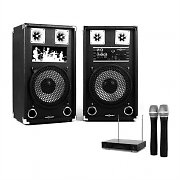 "Karaoke Kachine ""STAR-10A"" PA Speakers Wireless Microphone Set"