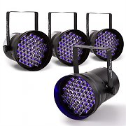 Lightcraft Hepburn LED PAR36 Spotlight 4 x DMX 60 UV LEDs Black