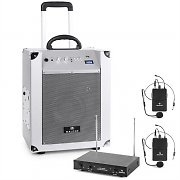Auna / Malone 'Blockstar' Mobile PA System 2-Channel Wireless Mic Set White