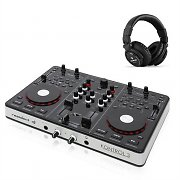 Resident DJ  Kontrol 3 USB MIDI DJ Controller Sound Card with DJ Headphones