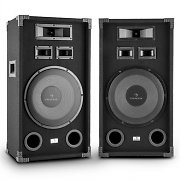"Auna PA-1200 Full Range Set of 2 PA Speakers with 12"" Subwoofer 1000W Max"