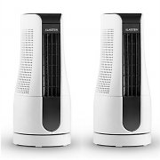 Klarstein Skyscraper Office Desk Fan Set of 2 16W White