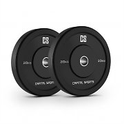 Capital Sports Elongate 20 Bumper Plate 2 Rubber Weight Plates 20 kg