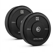 Capital Sports Bumpee 25 Bumper Plate 2 Rubber Weight Plates 25 kg