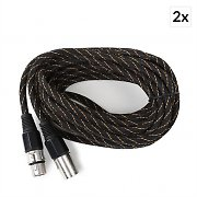 FrontStage XLR Cable Set 2-Piece 6m Textile Sheath Male to Female