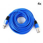 FrontStage 4 x XLR Cable 10m Blue Male to Female