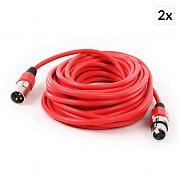 FrontStage XLR Cable Set 2-Piece 10m Red Male to Female