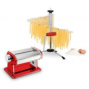 Klarstein Pasta Set Siena Pasta Maker Red & Verona Pasta Dryer
