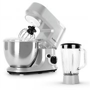 Klarstein Carina Argentea Set 800W Food Processor Plus 1.5L Blender Pitcher
