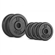 CAPITAL SPORTS IPB 10 kg Set Barbell Weights Set 4 x 1.25 kg + 2 x 2.50 kg 30 mm
