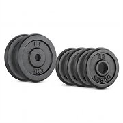CAPITAL SPORTS IPB 15 kg Set Barbell Weights Set 4 x 1.25 kg + 2 x 5 kg 30 mm