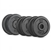 CAPITAL SPORTS IPB 20 kg Set Barbell Weights Set 4 x 2.5 kg + 2 x 5 kg  30 mm
