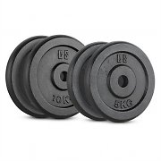 CAPITAL SPORTS IPB 30 kg Set Barbell Weights Set 2 x 5 kg + 2 x 10 kg 30 mm