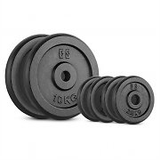 CAPITAL SPORTS IPB 30 kg Set Barbell Weights Set 4 x 2.5 kg + 2 x 10 kg 30 mm