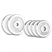 CAPITAL SPORTS CP 15 kg Set Dumbbell Disc Set 4 x 1.25 kg + 2 x 5 kg 30 mm