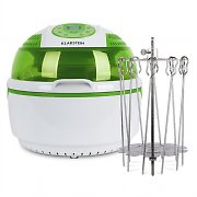 Klarstein VitAir Green Bundle Set 1400W Hot-Air Fryer 9L | Rotary Spit Rotator