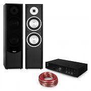 auna Line-300 Bluetooth HiFi-Set Amplifier Standing Speaker Passive black