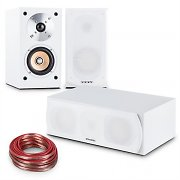 auna Linie-501 Speaker set 2 x Shelf Speakers  | Centre | 10 M Cable White