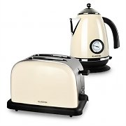 Klarstein Aquavita Breakfast Set Cream | Electric Kettle | Toaster | Cream