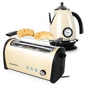 Klarstein Cambridge Breakfast Set Cream 2200W Kettle 1,7L | 1400W Toaster