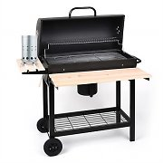 oneConcept Beefbutlet Set Charcoal BBQ Smoker & Electric Igniter 350 W