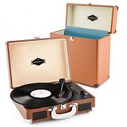 auna Peggy Sue Record Collector Set Black | Retro Record Player | Record Case