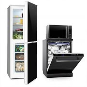 Klarstein  Luminance Set Frost Refrigerator Freezer Combination Microwave Dishwasher