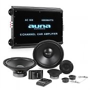 auna CS-Comp-12 Car HiFi Set | Speaker Complete Set | 6-Channel Power Amplifier