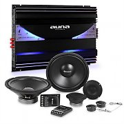 auna CS-Comp-12 Car HiFi Set Speaker Set | 6-Channel Power Amplifier 570W RMS