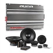 auna CS-Comp-8 Car HiFi Set 6-Channel Power Amplifier Speaker Set & 6-Channel Power Amplifier