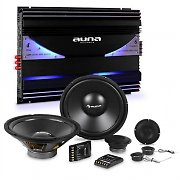 auna CS-Comp-10 Car HiFi Set 6-Channel Power Amplifier Speaker Set & 6-Channel Power Amplifier