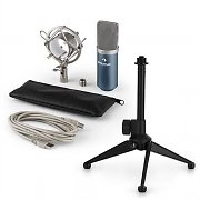 auna MIC-900BL USB Microphone Set V1 | Blue Condenser Microphone | Tabletop Stand