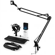 auna MIC-900WH USB Microphone Set V3 Condenser Microphone + Microphone Arm Cardioid White