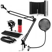 auna MIC-900RD USB Microphone Set V5 Condenser Microphone Pop-Protection Microphone screen Microphone Srm red