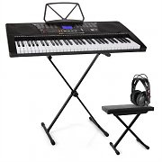 Schubert Etude 225 USB Learning Keyboard Set Headphones, Keyboard Stand & Bench